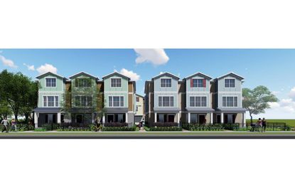 A rendering of the 10 townhomes planned for 0.5 acres at 547 N. Fern Creek Ave., on the southeast corner with E. Concord Street.