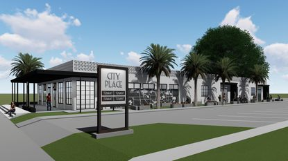 A conceptual rendering of Garber Development's redevelopment of Mills Place, a 7,000-square-foot building at 1100 S. Orlando Ave. in Winter Park.
