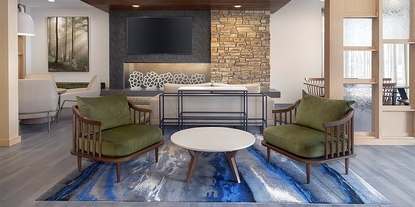 Fairfield launched a new décor package this year called 'Modern Calm, which is inspired by the warm and calming sensibility and feelings evoked by the Fairfield Farm.