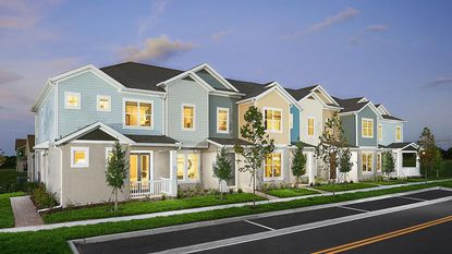 Park Square Homes will build these rear-loaded townhomes in Horizon West and Apopka.
