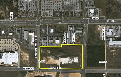 ContraVest Builders is planning a 230-unit apartment complex, called Addison at Clermont, on this 19-acre site.