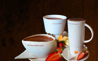Example of drinks from The Chocolate Room restaurant in Australia.