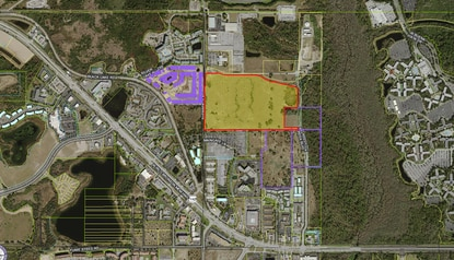Walt Disney Parks and Resorts sold 53 acres in Kissimmee on Monday for $12.5 million.