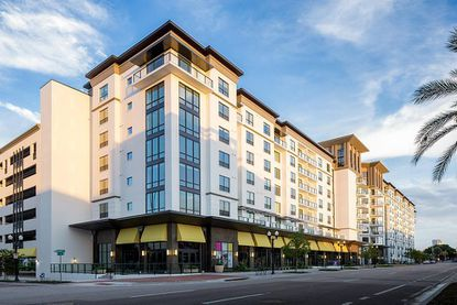 Exterior of the formerly named The Sevens apartment building in downtown Orlando's North Quarter neighborhood, acquired by Camden Property Trust on Thursday.
