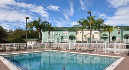 A photo of the pool at the Seminole Ridge affordable housing complex in Orlando.