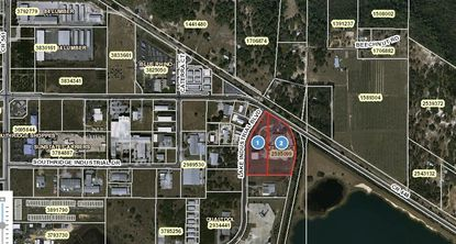 The 9.69 acres in Tavares on 28536 Lake Industrial Blvd. that are targeted for development.