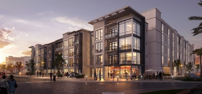 Alabama-based LIV Development wants to create an iconic apartment community in Orlando's I-Drive corridor. This is the eastern building, which has an attached parking garage.