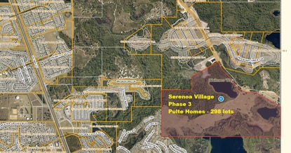Pulte Homes just broke ground on Phase 3 of Serenoa Village in Clermont.