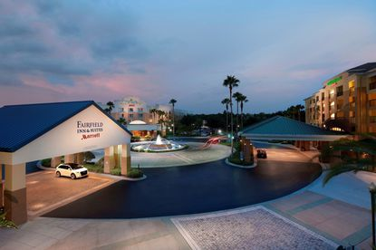 The 1,100-room hotel complex includes the Courtyard Orlando Lake Buena Vista, SpringHill Suites Orlando Lake Buena Vista and Fairfield Inn & Suites Orlando Lake Buena Vista hotels.