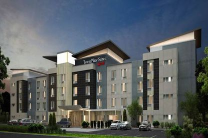 This is a prototype rendering of the TownePlace Suites. The new hotel in Lake Mary will be five stories.