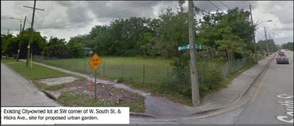 The Municipal Planning Board will review a request to farm this parcel in Parramore on Tuesday.