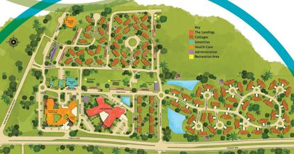 A long-range community site plan for the Lutheran Haven active adult community.