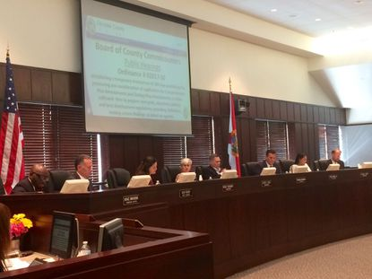 Osceola Commissioners voted 3-2 to approve a six-month moratorium on new residnetial development and rezonings on Monday.