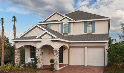 This four-bedroom Xavier model will be available on the 50-foot lots in Winding Bay.