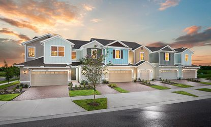 Both communities will feature these front-loaded units townhomes. The Wiregrass site on Jack Brack also will have rear-loaded units mixed in.