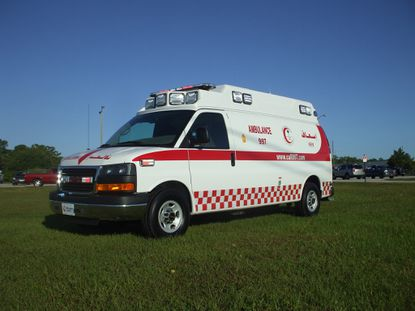 Winter Park's Wheeled Coach Industries manufactured this Chevrolet Type II ambulance for the Saudi Red Crescent Authority in Saudi Arabia, and will begin shipping 440 units on May 15 out of Jacksonville Port.