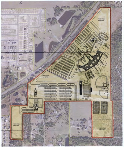Osceola County's School District is under contract to buy 131 acres on Nova Road in St. Cloud for a bus depot and future high school.