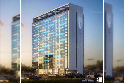A rendering for the previously proposed 21-story UNIQ Hotel on I-Drive.