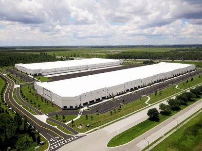 The roughly 40 acres of land that Colony Capital purchased, which contains two newly completed warehouses spanning a total of 564,508 square feet.