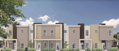 The townhomes feature three bedrooms, two bathrooms and a two-car garage.