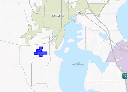 Tramell Webb has filed a site plan calling for more than 1000 homes on this 406-acre tract south of Kissimmee.