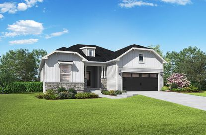 LGI Homes, known for its affordable prices, will introduce an upscale product line at Reunion Village. This Anna model is currently offered at other LGI Homes communities with the CompleteHome Plus package.