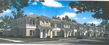 A rendering of the proposed Park Shore Townhomes on Winter Park's Michigan Avenue.