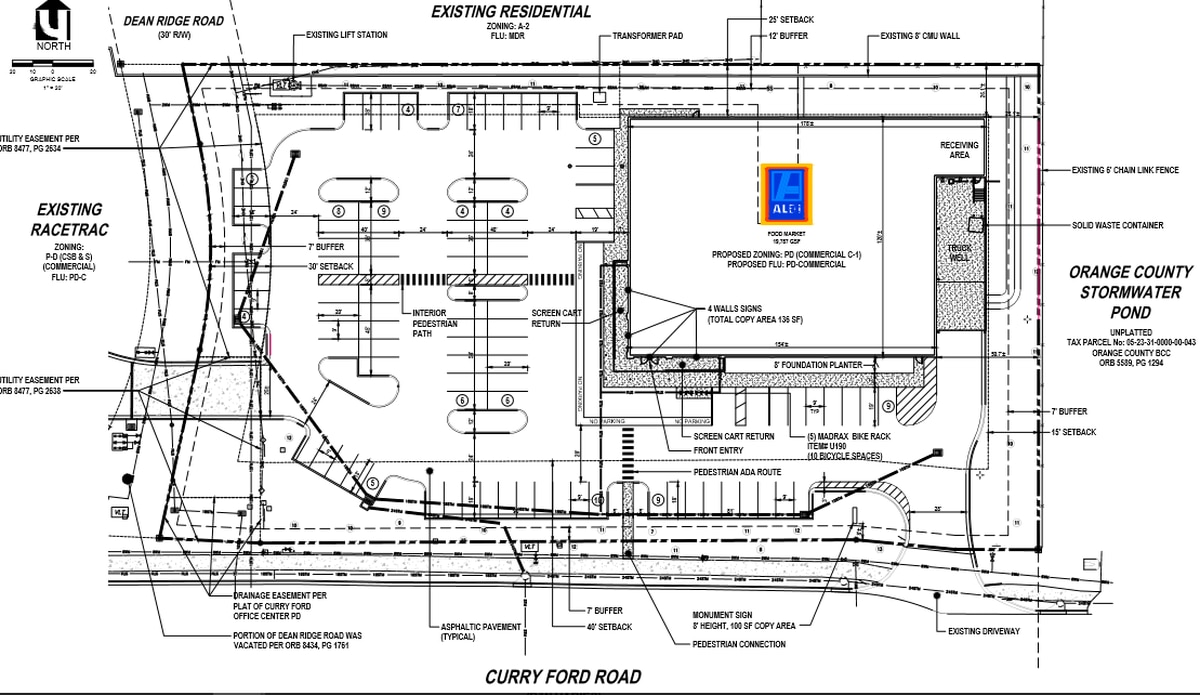 Aldi Plans 17th Orlando Area Store In East Orange On Curry Ford Growthspotter