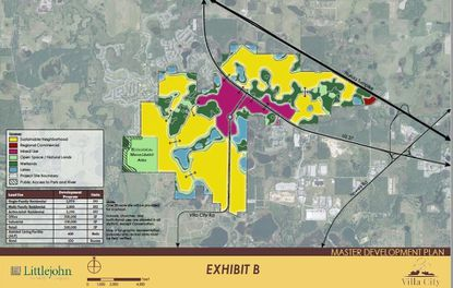 Highlighted is the 2,467-acre mixed–use development planned for property in Lake County, to be annexed into Groveland.