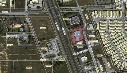 Highlighted in red is the Sunrise Plaza parcel in Clermont that an affiliate of Harvest Holdings recently sold.