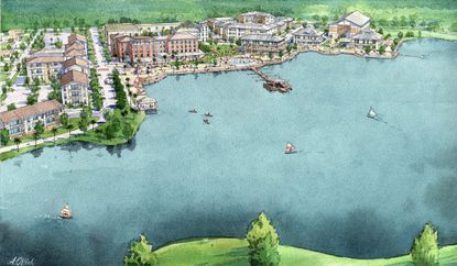 Tavistock's Sunbridge Concept Plan calls for a new 40-acre man-made lake with its own marina entertainment district.