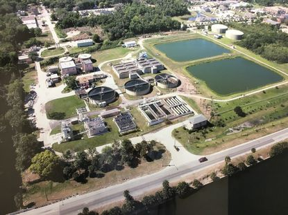 The wastewater treatment facility sits 8.37 acres on the southern bank of Lake Monroe, near Downtown Sanford.