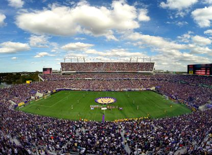 DCIM\125GOPRO The view from the upper bowl of the Citrus Bowl at the start of the the inaugural MLS game of Orlando City Soccer, in Orlando, Fla. Sunday, March 7, 2015. (Joe Burbank/Orlando Sentinel)