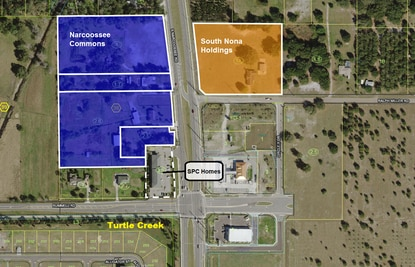 The owner of SPC Homes recently sold the office building at the corner of Narcoossee and Rummell roads (white dash) for $2.8 million. The sale allows him to focus on two commercial developments on property in the same corridor.