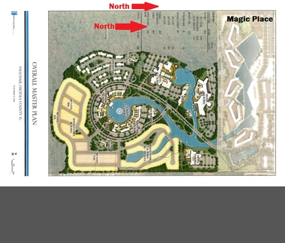 Park Square Homes is looking to develop a mix of hotels, retail and residential uses on 168 upland acres adjacent to the future Magic Place community. In this image, north is facing right.