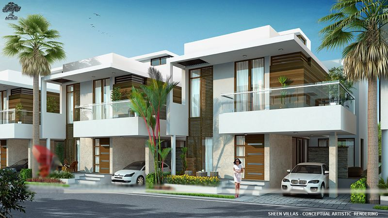 Rendering shows conceptual townhomes at the 17-unit Sheen Villas project along Winter Garden Vineland Road.