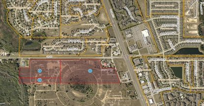 Camden Park North will be on the red highlighted area, at the southwest corner of U.S. 27 and C.R. 474, next to a Lake County Fire Station.