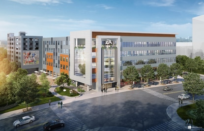The new Electronic Arts headquarters in Creative Village will open by October 2021.