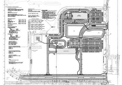 This updated site plan shows future phased buildout for the medical complex by Orlando Health in Lake Mary. Phases include a medical office building and emergency room, energy plant, four-story parking garage, hospital bed tower, courtyard, helipad and future expansion area.
