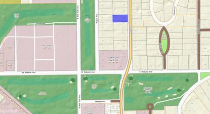 Highlighted in blue is the single-family home lot recently bought as an investment property on N. Park Avenue, just north of the Winter Park Country Club.