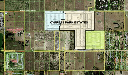 Cypress Park Estates in Haines City will be developed in three phases, beginning with 354 homes in Phase 1.