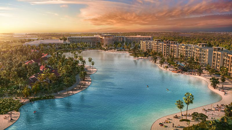 The $1 billion Evermore Orlando resort will incorporate a 20-acre tropical beach complex and an 8-acre Crystal Lagoon amenity.