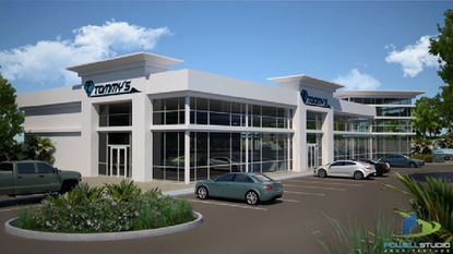 Planned design of a new Tommy's boat dealership in Clermont.