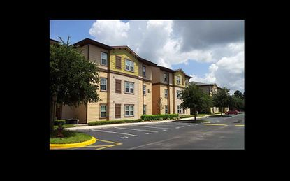 A view of the Orion on Orpington student apartments near UCF.