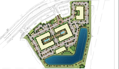 Fore Property Company will build the 384-unit Parkway Crossings apartment community at the intersection of Osceola Parkway and Orange Avenue, just south of the Tupperware SunRail station.