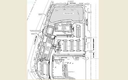 The revised site plan for two hotels at the northeast corner of S.R. 46 and Interstate 4 in Sanford.