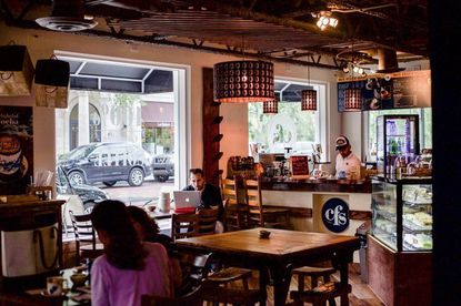 Colombian gourmet coffee shop CFS opened its first store here on Winter Park's W. New England Avenue.