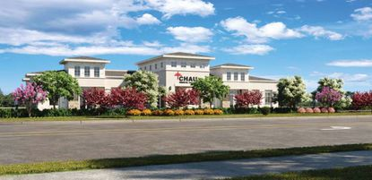 The mixed-use project will feature a large pond with a fountain and pedestrian trail.