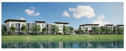 The Dinerstein Companies is planning to build a new 320-unit apartment complex overlooking Turkey Lake in MetroWest's Veranda Park.