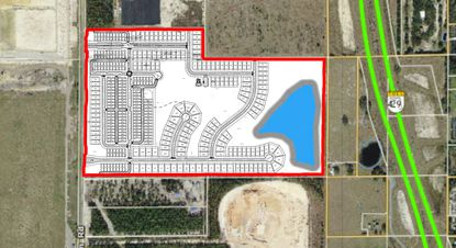 The Park View Preserve 282-lot subdivision at 3845 Golden Gem Road.
